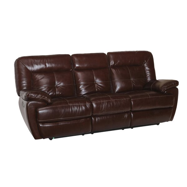 Duffett Leather Reclining Sofa by Red Barrel Studio