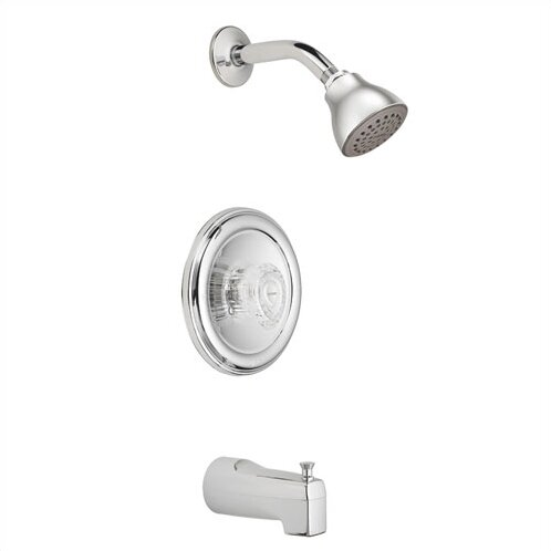 Chateau Tub and Shower faucet Trim with Knob Handle and Posi-Temp by Moen