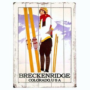 'Breckenridge, Colorado' Print on Wood by Artehouse LLC