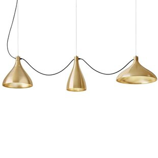 Swell String 3-Light LED Cluster Pendant By Pablo Designs