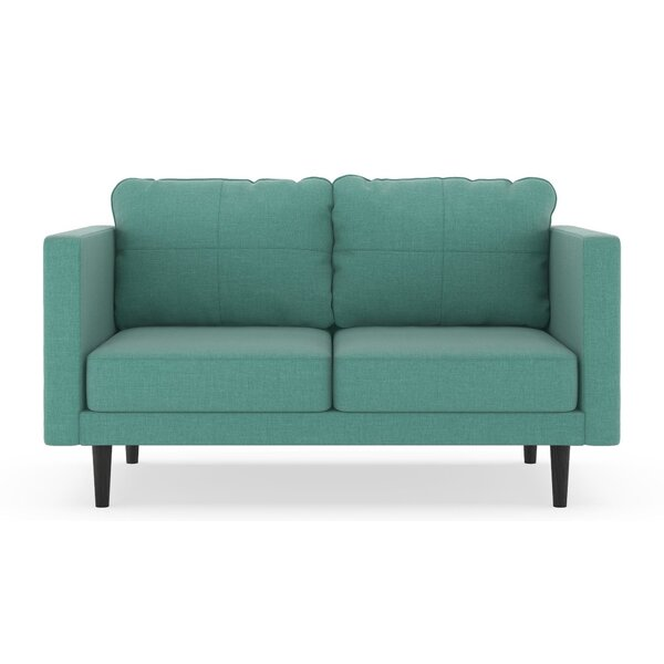 Get The Latest Rocio Linen Weave Loveseat by Brayden Studio by Brayden Studio