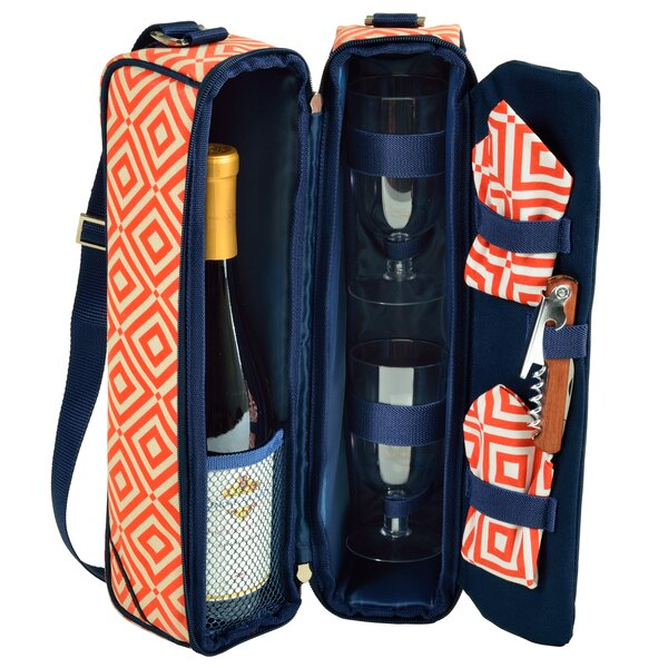 Diamond 2 Person Sunset Wine Carrier by Picnic at Ascot