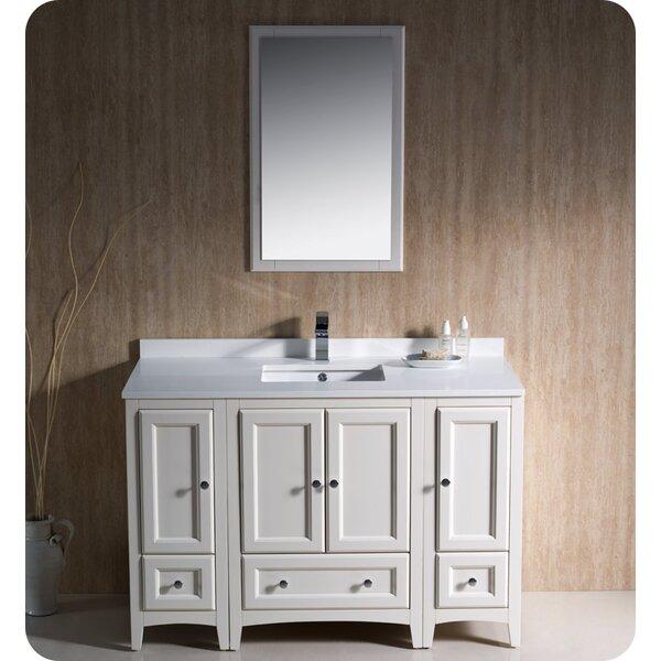 Oxford 48 Single Bathroom Vanity Set with Mirror by Fresca
