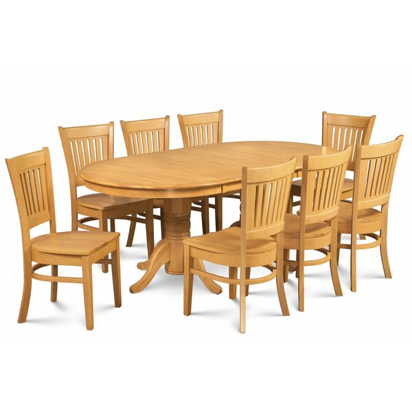 Miriam Solid Wood 9 Piece Extendable Dining Set by Breakwater Bay