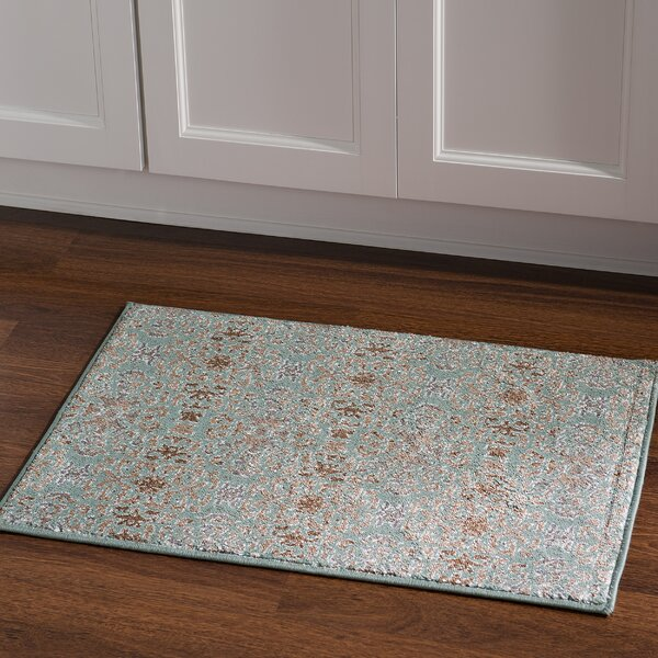 Puckett Damask Blue Area Rug by Three Posts