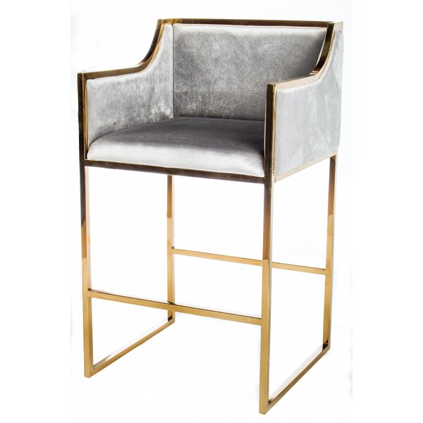 Erin Gold Bar Chair (Set of 2) by Statements by J