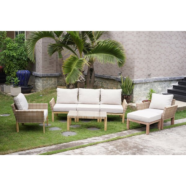 Mariana 4 Piece Sofa Seating Group with Cushions by Rosecliff Heights