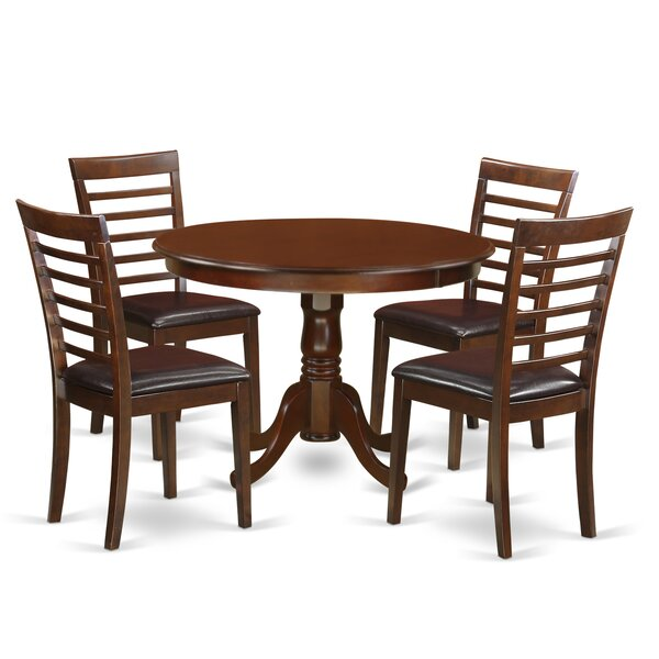 Travis 5 Piece Dining Set August Grove AGRV5490