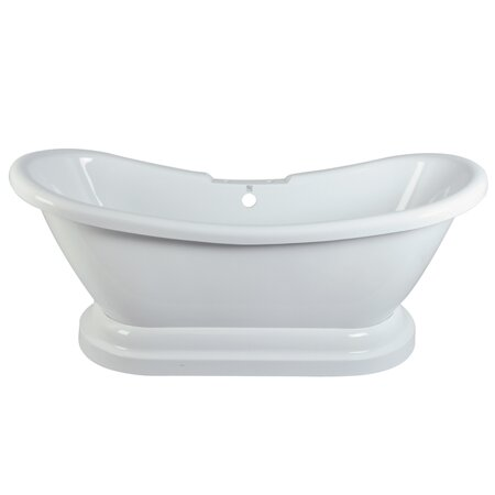Aqua Eden 69'' x 28'' Freestanding Soaking Bathtub by Kingston Brass