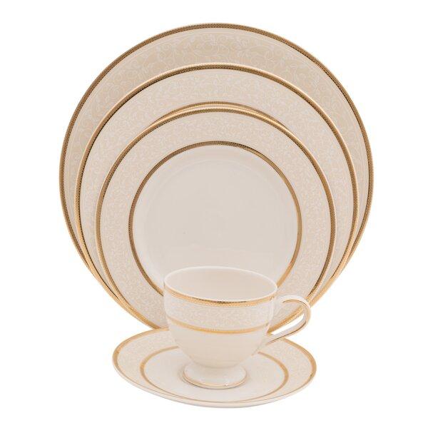 Isabella 5 Piece Ivory China Place Setting, Service for 1 (Set of 4) by Shinepukur Ceramics USA, Inc.