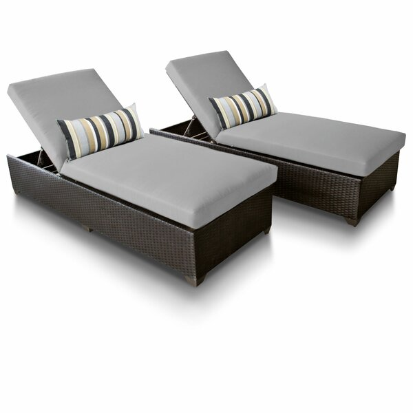 Medley Sun Lounger Set with Cushions (Set of 2) by Rosecliff Heights