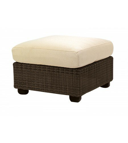 Montecito Outdoor Ottoman with Cushion by Woodard