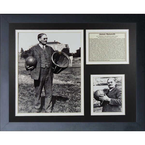James Naismith Kansas Jayhawks Framed Memorabilia by Legends Never Die