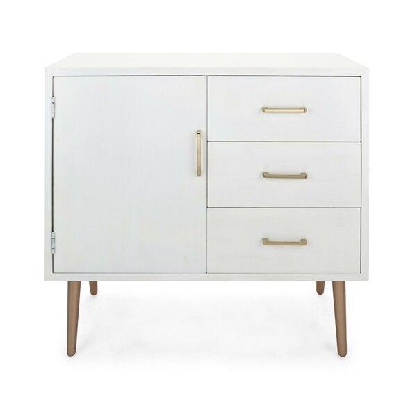 Garnica Wooden Spacious 1 Door Accent Cabinet by George Oliver