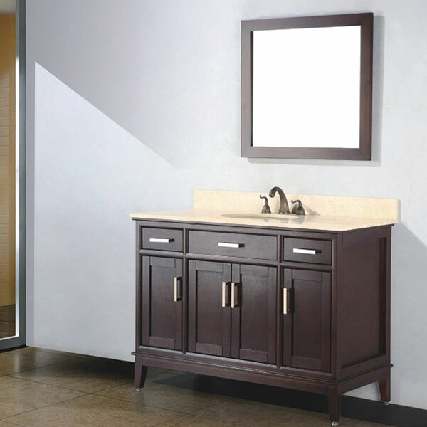 Augusta 48 Single Bathroom Vanity Set with Mirror by Adornus