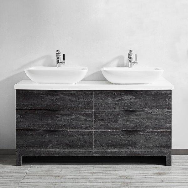 Kelsey 60 Double Bathroom Vanity Set by Union Rustic