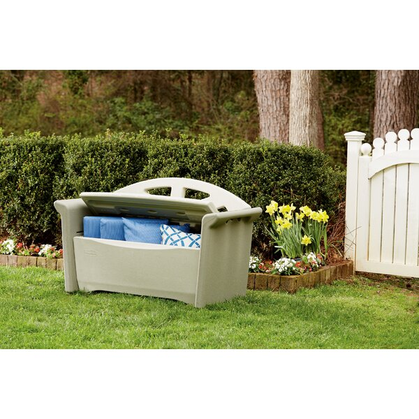 Plastic Storage Bench by Rubbermaid Rubbermaid