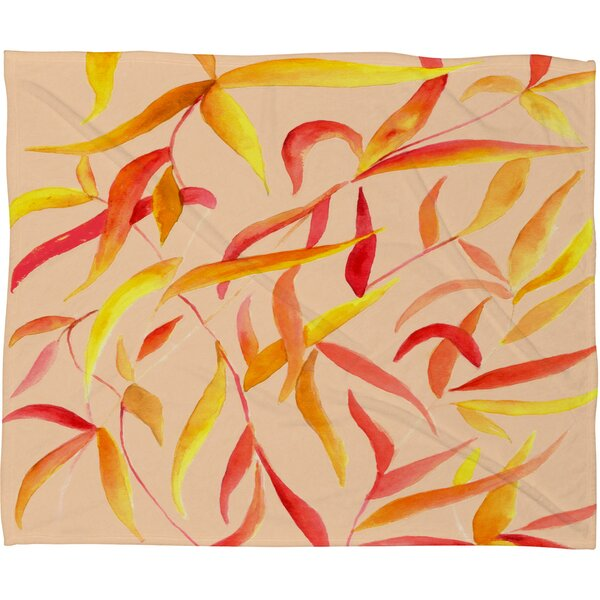 Autumn Leaves Throw Blanket by East Urban Home