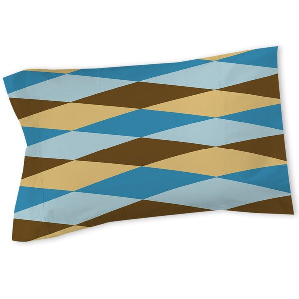 Bold in Blue Argyle Sham by Manual Woodworkers & Weavers