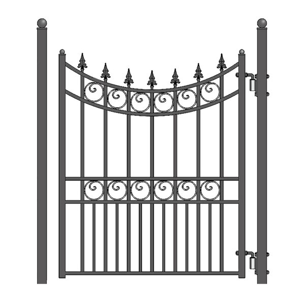 4.5 ft. H x 4.5 ft. W Moscow Steel Pedestrian Gate by ALEKO
