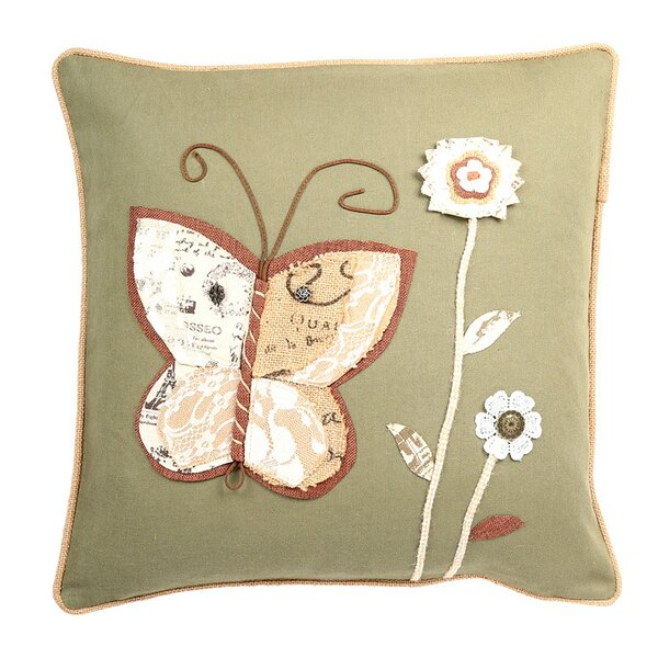 Ambler Garden Theme Embroidery Throw Pillow by August Grove