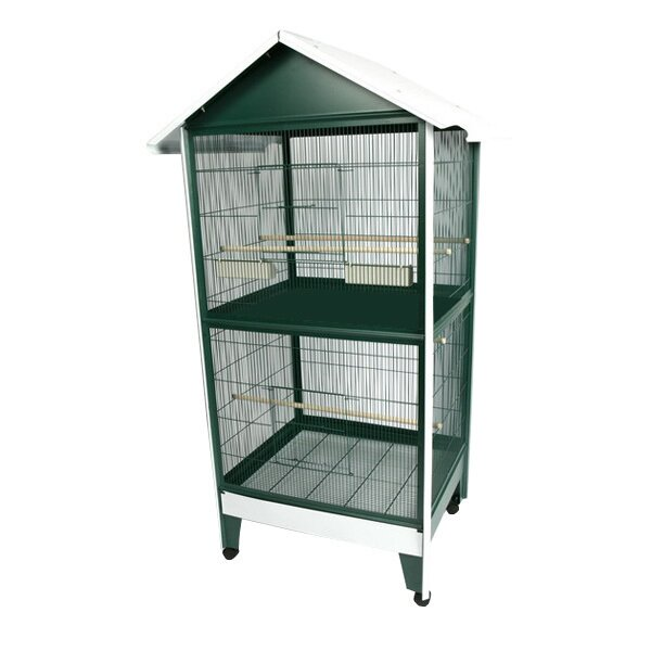 Two Story Pitched Roof Bird Aviary by A&E Cage Co.