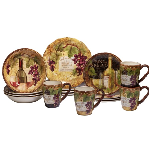 Aldergrove 16 Piece Dinnerware Set, Service for 4 by Fleur De Lis Living