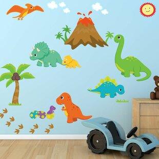 Dinosaur World Fabric Printed Wall Decal