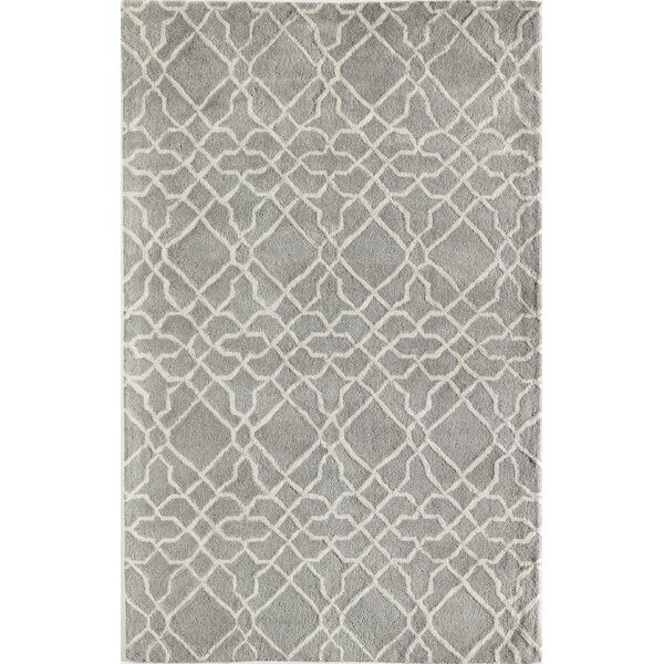 Daley Geometric Hand-Tufted Wool Gray Area Rug by Andover Mills