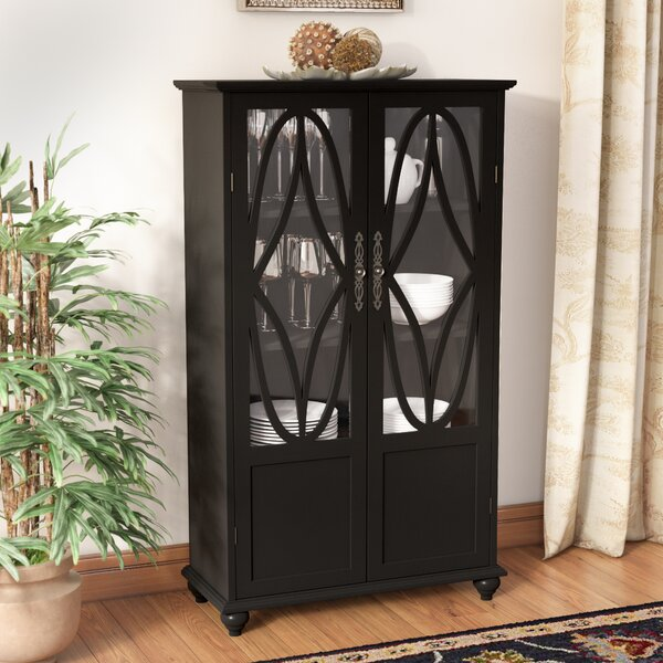 Cardiff Wood Curio Cabinet by Three Posts