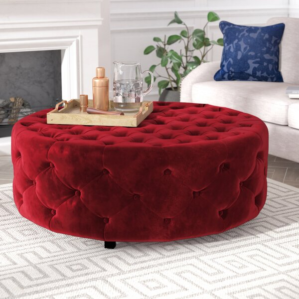 Jill Tufted Cocktail Ottoman by Willa Arlo Interiors Willa Arlo Interiors