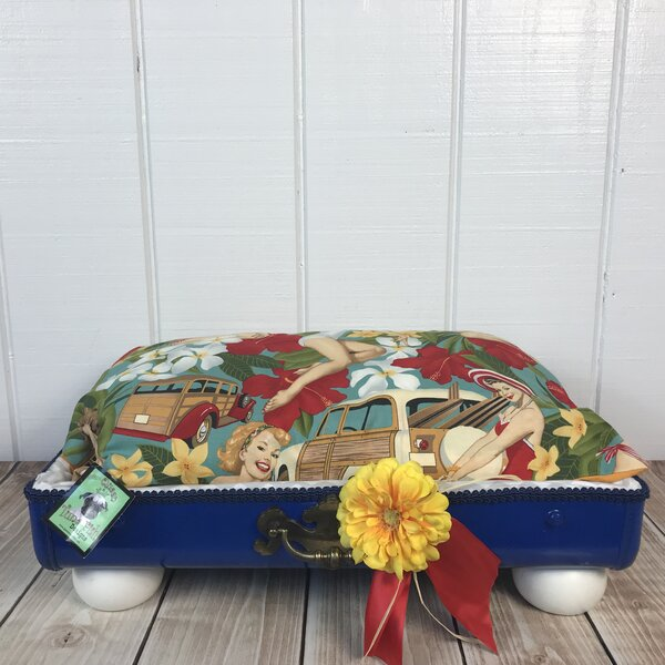 The Stud Pin Up Pet Suitcase Bed by Queen Tuna Fish Designs
