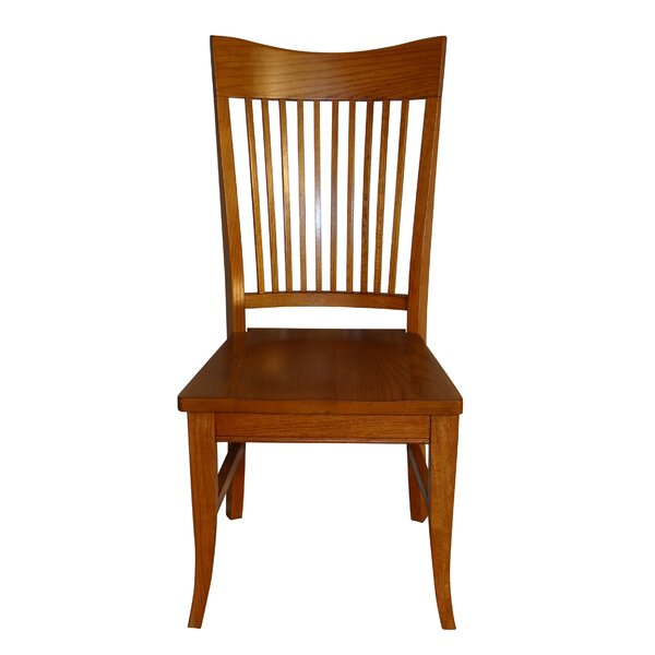 Tyrell Curved Spindle Back Solid Wood Dining Chair (Set of 2) by Red Barrel Studio