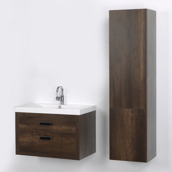 32 Wall Mounted Single Bathroom Vanity Set by Streamline Bath