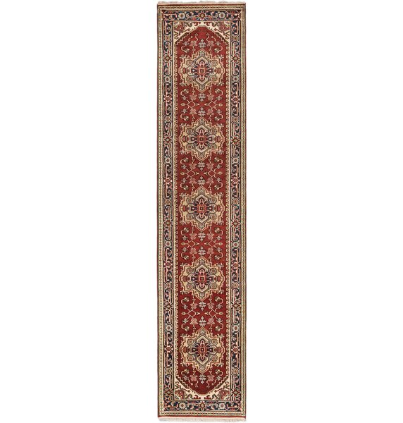 One-of-a-Kind Doerr Hand-Knotted Dark Orange-Red Area Rug by Isabelline
