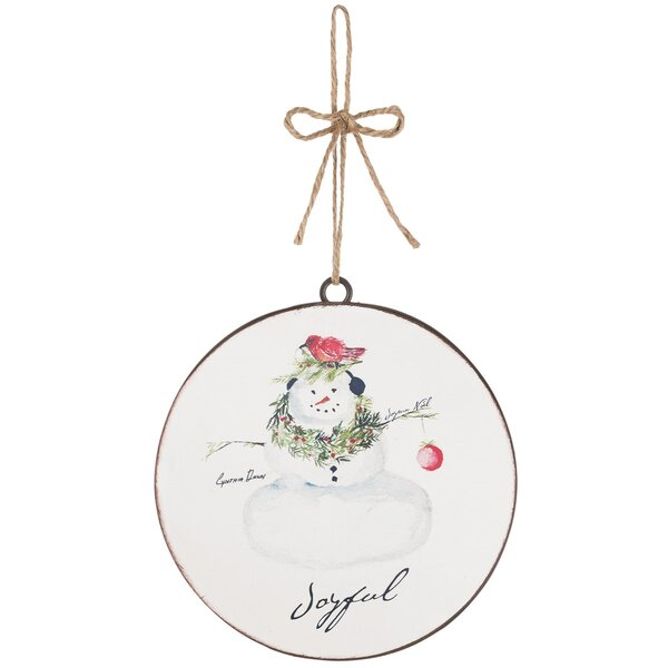 Snowman Disc Ball Ornament (Set of 12) by The Holiday Aisle