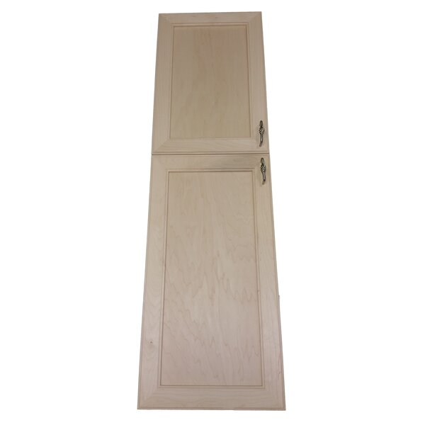 Village 15.5 W x 52.5 H Recessed Cabinet by WG Wood Products