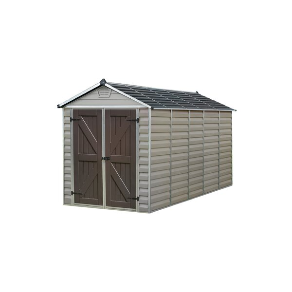 SkyLight™ 6 ft. W x 12 ft. D Polycarbonate Storage Shed by Palram
