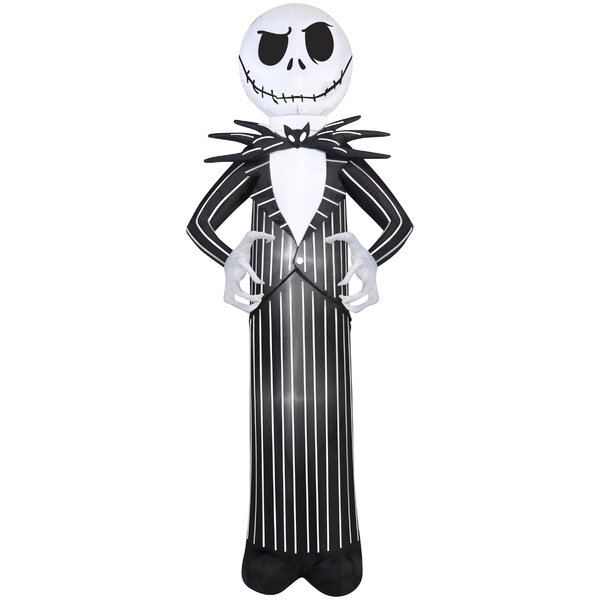 Jack Skellington Giant Disney Inflatable by The Holiday Aisle