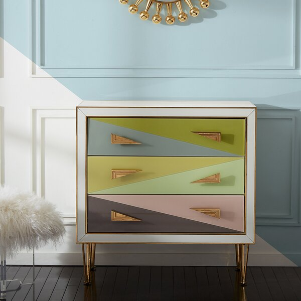 Harlequin 3 Drawer Bachelors Chest by Jonathan Adler