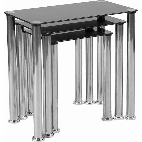 Boutant Glass Top Nesting Tables By Orren Ellis