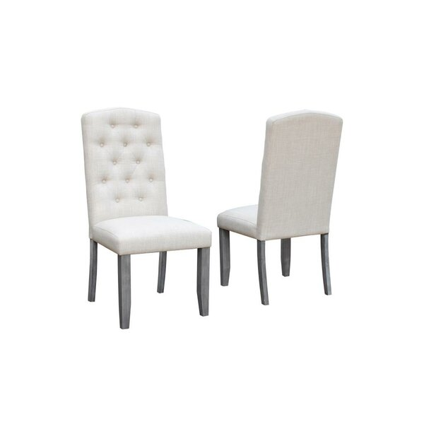 Sawyer Tufted Upholstered Dining Chair (Set of 2) by Gracie Oaks Gracie Oaks