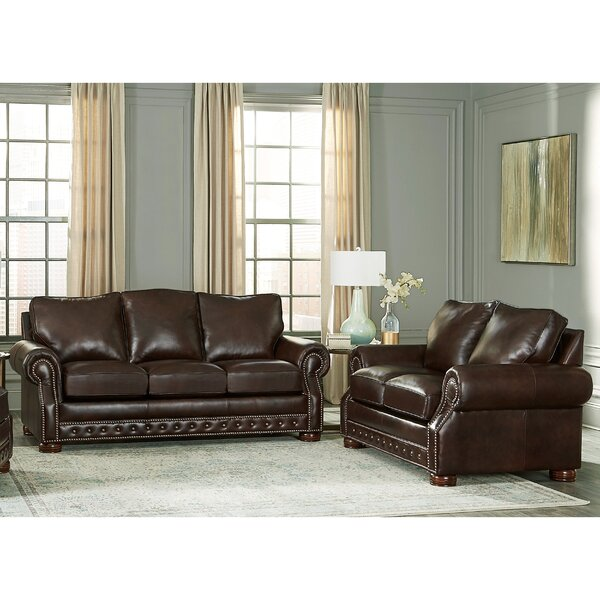 Pelaez 2 Piece Leather Sleeper Living Room Set by Canora Grey