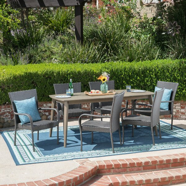 Goetsch 7 Piece Dining Set by Wrought Studio