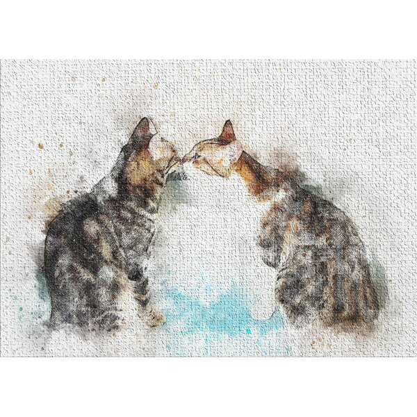 Cat Gray Area Rug