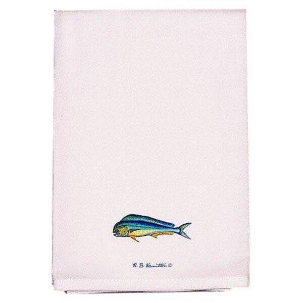 Coastal Dolphin Fish Hand Towel (Set of 2) by Betsy Drake Interiors
