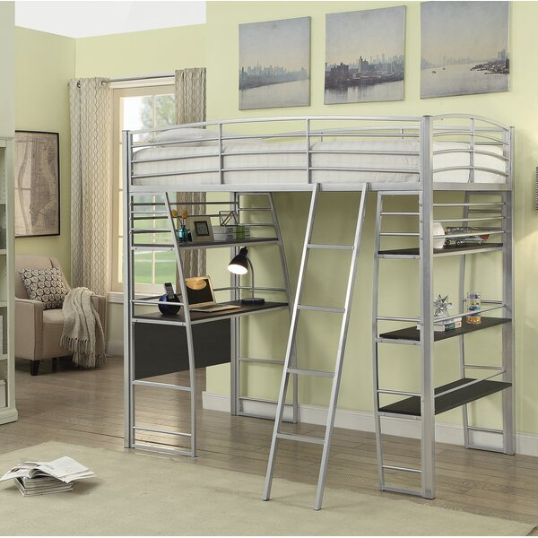 Westborough Contemporary Twin Bunk Configuration Bed with Open Shelving by Zoomie Kids