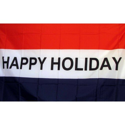 Happy Holiday Traditional Flag by NeoPlex