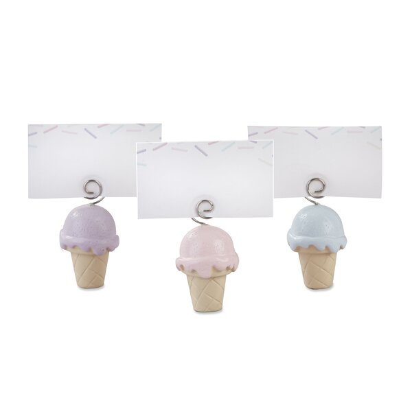 Ice Cream Place Card Holder (Set of 12) by The Holiday Aisle