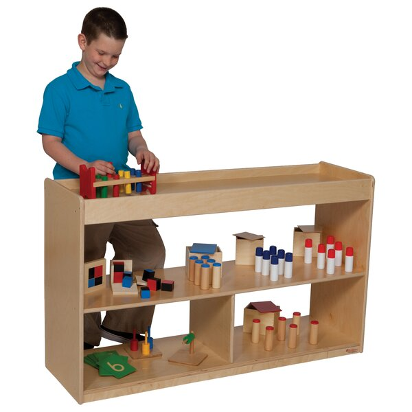 Natural Environment Double Sided 4 Compartment Shelving Unit by Wood Designs